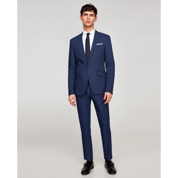 c904f2864c9 Zara Suits & Blazers   Deep Blue Technical Suit Slim Fit Altered ...